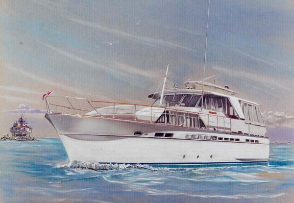 "Chris-Craft Connie Original Dimensions 23""x 31"""